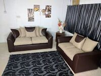 *** 1 YEAR WARRANTY ** BRAND NEW PARIS FABRIC SOFA SET ON SPECIAL OFFER