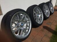 "X4 BMW 18"" Alloy Wheels with X4 BRAND NEW Pirelli P-Zero Run Flat Tyres"