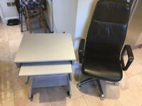 Computer desk and executive chair