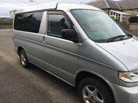 Mazda Bongo fitted with elevating roof, seats 8, automatic. With leisure battery & electric hook-up
