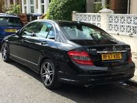 39k Low Miles! 2008 Mercedes Benz C200 1.8 Sport 4 Door Auto/Manual Petrol Black AMG Styling