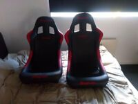 Cobra bucket seats snap on