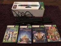 XBox 360 Kinect - boxed with games