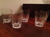 Crystal glass tumblers