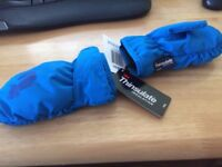 Blue thinsulate snow gloves aged 1-2yrs