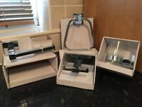 Chrome Bathroom Set - B&Q Bathroom Set - NEW - High Quality 4 Piece Set