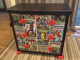 Upcycled superhero chest of drawers