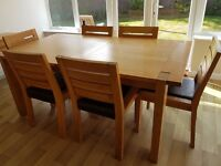 Light Oak Dining Table & 6 Chairs (Marks & Spencer 'Sonoma')