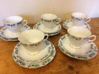 Pretty blue and white tea set