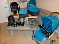 mamas ans papas 3 in 1 travel system ex clean condition with accessories