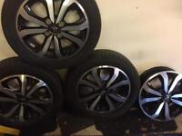 3 x Alloy wheels and tyres for Citroen C1, Peugeot 107, Toyota Aygo plus 1 x wheel no tyre