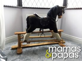 MAMAS & PAPAS TRADITIONAL ROCKING HORSE RRP £399 EXCELLENT CONDITION
