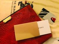 Burberry Red Leather Purse
