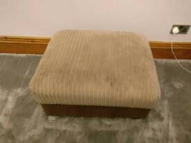 Harveys 3 seater sofa, chair & footstool (with storage)