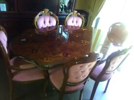 italian table and chairs great condition heat protection mat all solid
