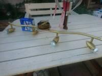 Brass light with 4 bulbs good working order