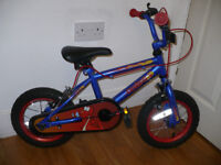 Kids 12 inch Bike. Boy/Girl 3-5 years (even from 2.5 years old). Was £59.99. Excellent condition.