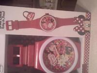 minnie mouse wall watch