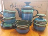 Waku west German vintage pottery tea set