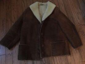Ladies Coat Vintage Suede / Lambswool short