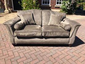 Luxury 2-3 seater sofa in dark olive weave