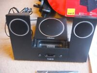 ( 2 docks) Gear4 street party 4 and Logic3 MIP022K i-Station22 -iPod 32 pin Speaker Dock with remote