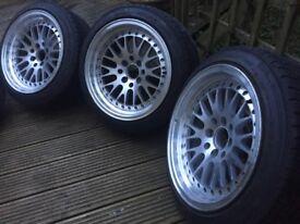 4X100 deep dish wheels