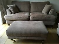 Two Florence small Sofas complete with footstool.