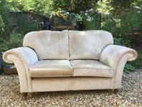 Pair of stunning Laura Ashley 'Mortimer' 2 Seater Sofas Settees in Villandry Champagne Fabric