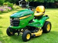 "John Deere X304 Ride On Mower - 42"" Mulch Deck - Lawnmower - 62 hours - Countax/Kubota"