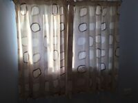 Next Geometric lined Curtains.