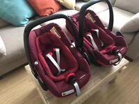 Maxi Cosi Pebble Plus Car Seats x 2 (£100 each)