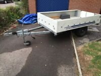 Large Car Trailer with Spare Wheel and Cover