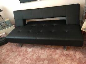 Black Faux Leather Sofa Bead