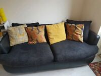 2 seater sofa and swivel chair