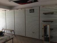 Slat Board Panels for shop display MDF