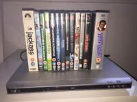 Alba DVD player and 14 DVDs