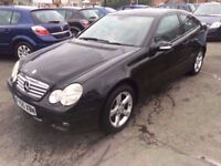 2005 / 55 MERCEDES C CLASS COUPE KOMPRESSOR SE 1890 , Treat yourself to an early Christmas Present