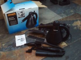 Halfords steam cleaner with accessories - great for the car