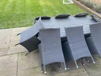 Patio dining table and chairs for sale.