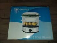 Cookware 3 bowl electric steamer