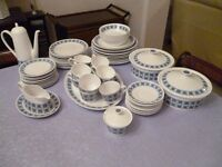 Bone china dinner service, large quantity ideal for entertaining this Christmas