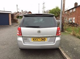Silver Vauxhall Zafira 1.9 CTDI 150 A 106410 miles AUTO Diesel VGC inside and out FSH
