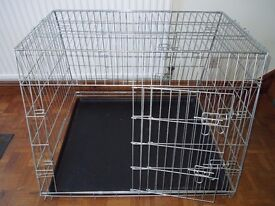 Silver Finish Sloping Double Car Cage