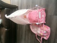 Baby Annabell Crib and Baby Carrier
