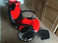 Barber Chair Salon Hydraulic Recline Beauty Spa Shampoo red Black BX-2661 new uk