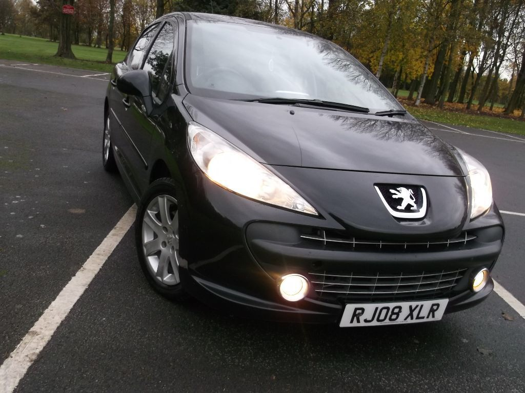 peugeot 207 1 6 hdi turbo diesel 110 bhp sport black 5 door alloys electric everything hpi clear. Black Bedroom Furniture Sets. Home Design Ideas