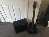 Ibanez guitar with stagg amp