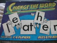 Change The Word Game by Spear Games, Think it dates back to the 1970's good clean condition.