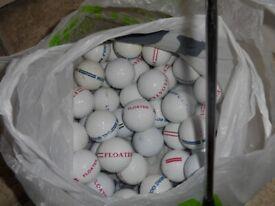 50 used golf balls